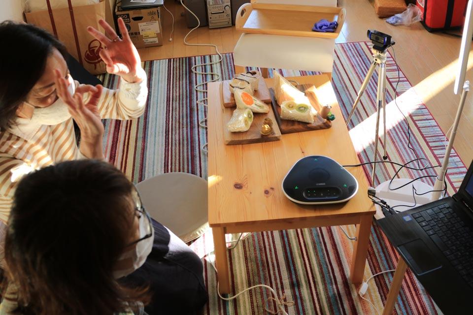 グリーフCookをオンライン(Zoom)で開催! フルーツサンドを作りました♪